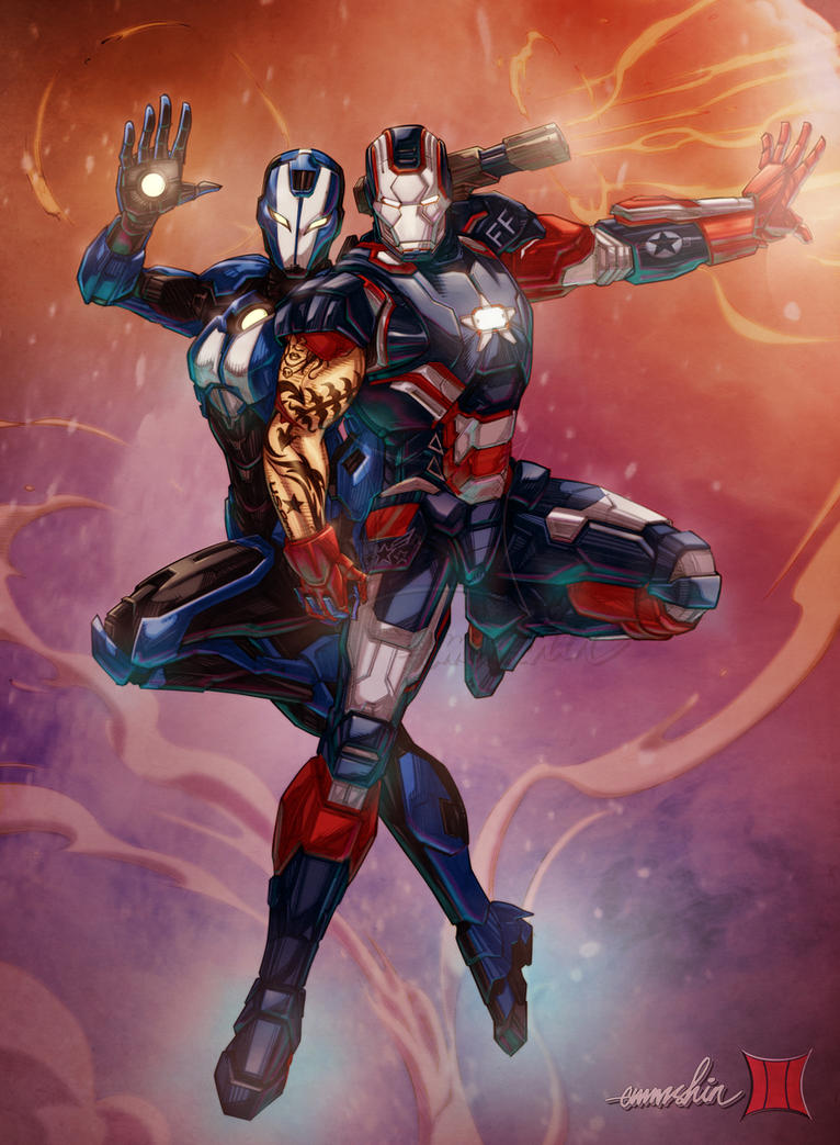 Iron Patriot and Rescue by emmshin