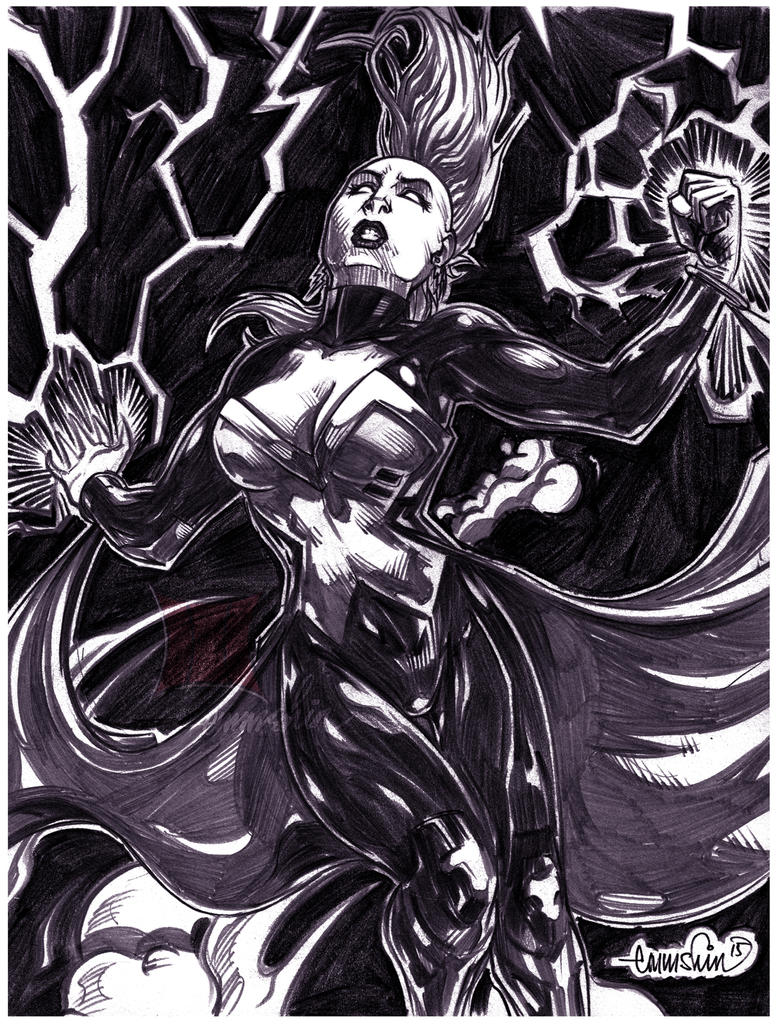 Marvel Now : Storm (pencils) by emmshin