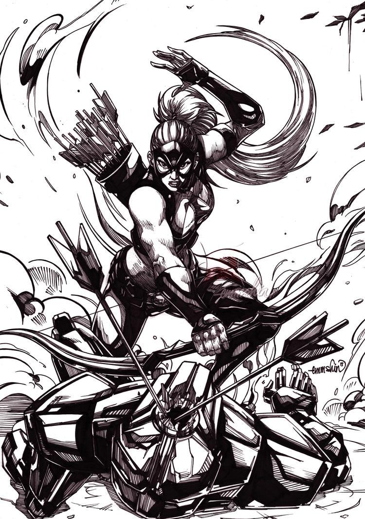 Artemis (inks) by emmshin