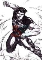 Superboy (pencils) by emmshin