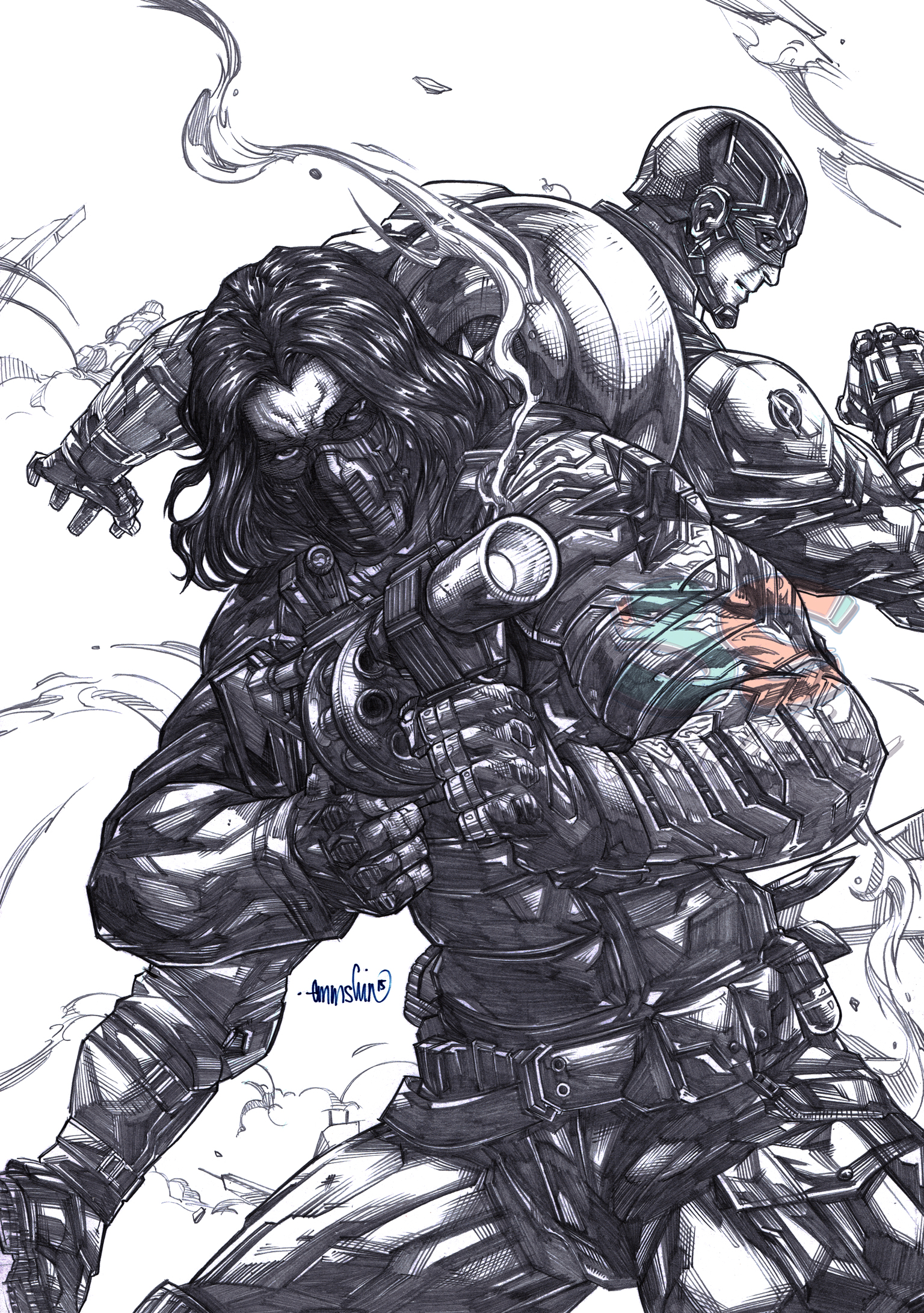 Winter Soldier (pencils) by emmshin on DeviantArt