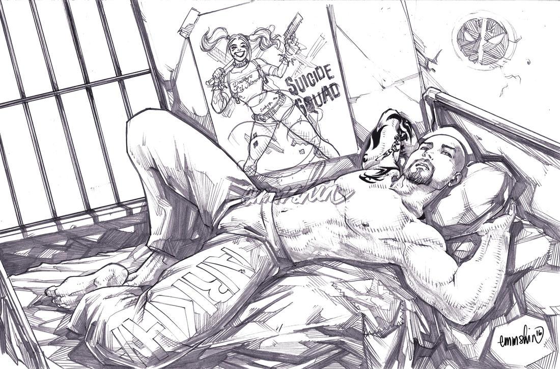 Nox as Arkham Prisoner (pencils) by emmshin