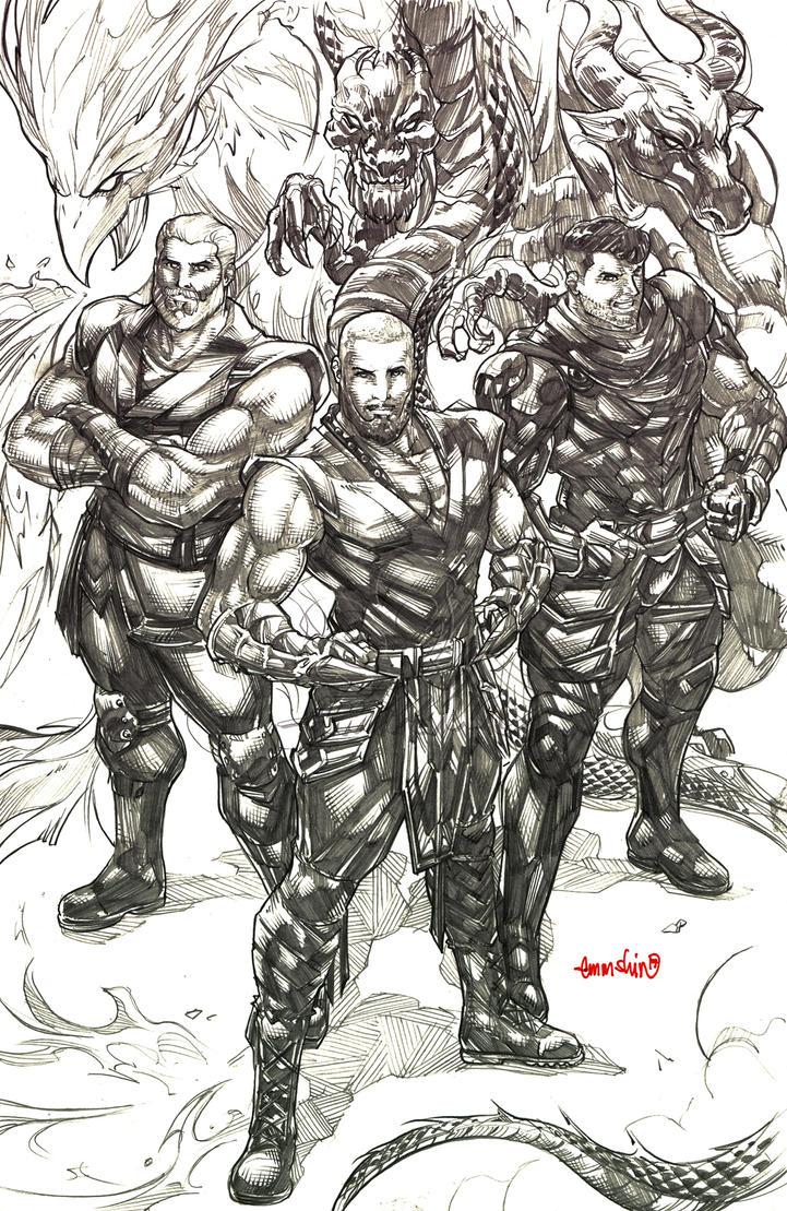 Legend of 3 (pencils) by emmshin
