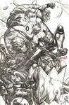 Fear Itself Thing vs. Spider-Man (pencils)