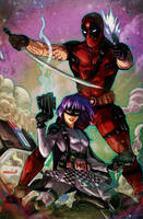 Deadpool x Hit-Girl Round 2 by emmshin