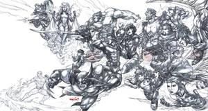 X-Men (pencils) by emmshin