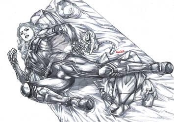 Captain Marvel (pencils) by emmshin