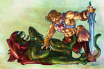 He-Man and Battle-Cat #SketchEmAll by emmshin