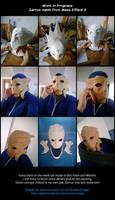 WIP - Garrus Vakarian's mask by kurerukreatis