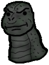 Srz MegaroGoji - Serious Face Godzilla (1973) by SpaceG92