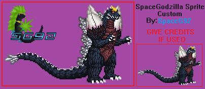 SpaceGodzilla V4.0 Sprite Custom