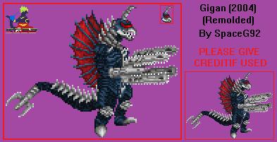 Gigan 2004 (Remolded) - Sprite Custom by SpaceG92