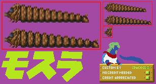 Mothra Larva (1992) - Sprite Custom