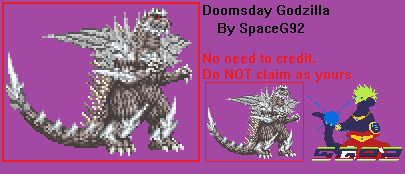 Sprite Custom - Doomsday Godzilla by SpaceG92