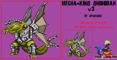 Sprite Custom - Mecha-King Ghidorah v3. by SpaceG92