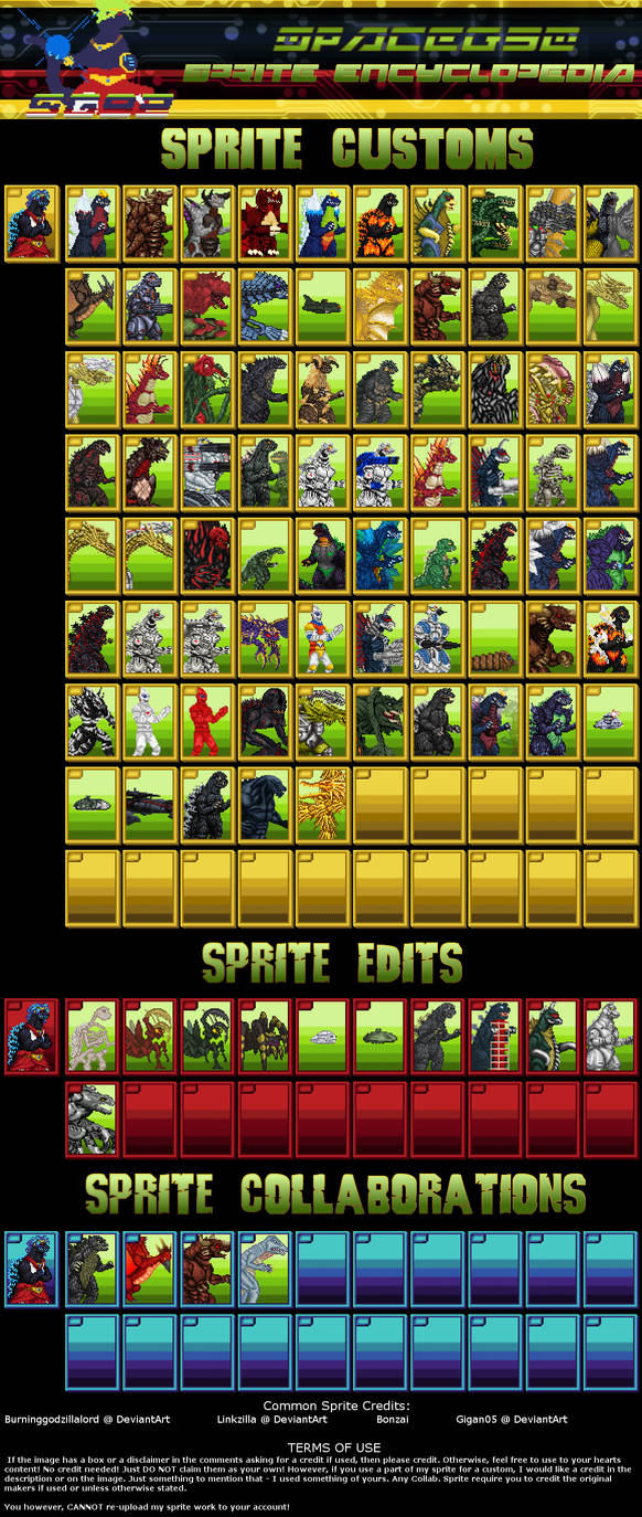 SpaceG92 - Sprite Encyclopedia v2.01
