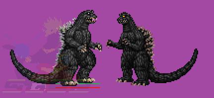 Sprite - GMK Godzilla v2. WIP by SpaceG92