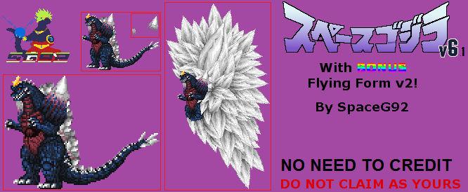Sprite Custom - SpaceGodzilla v6.1 w/Bonus Flying