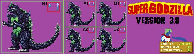 Sprite Custom - Super Godzilla v3.0
