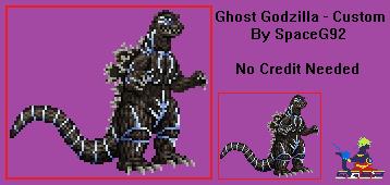 Sprite Custom - Ghost Godzilla by SpaceG92