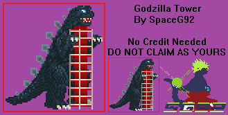 Sprite Custom - Godzilla Tower v1