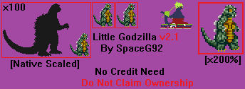 Sprite Custom - Little Godzilla v2.1