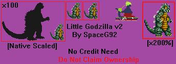 Sprite Custom - Little Godzilla v2