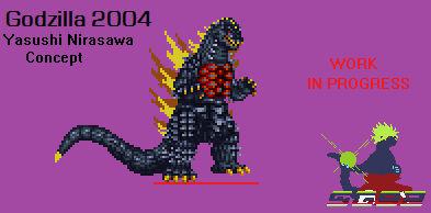 Sprite WIP: Godzilla 04 (Yasushi Nirasawa) Concept