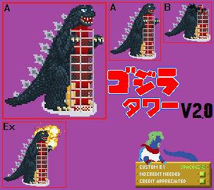 Sprite Custom - Godzilla Tower v2.0