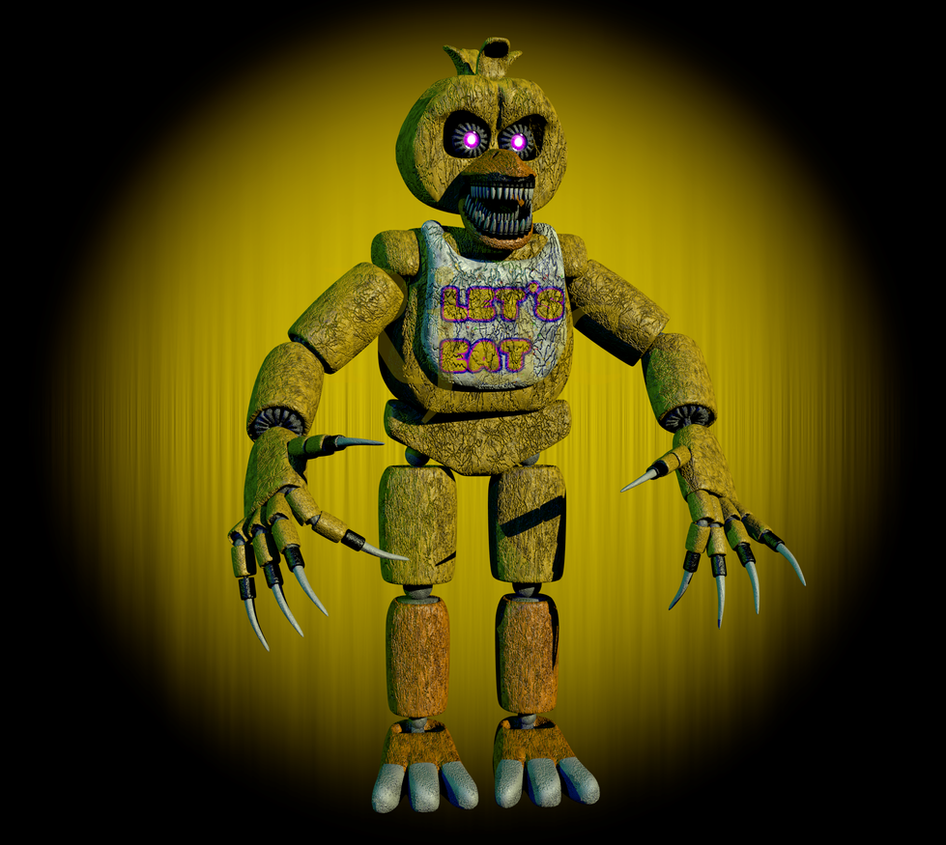 Nightmare FNaF 1 Chica (Full Model