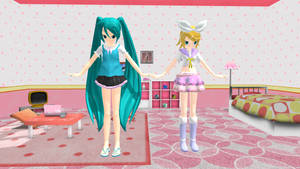 MMD Rin Miku DL by itsumo21