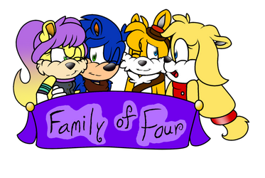 Family of Four - Title Card by grimlock1997