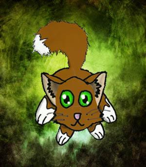 Cat Warriors Kitten Black Fur And Green Eyes