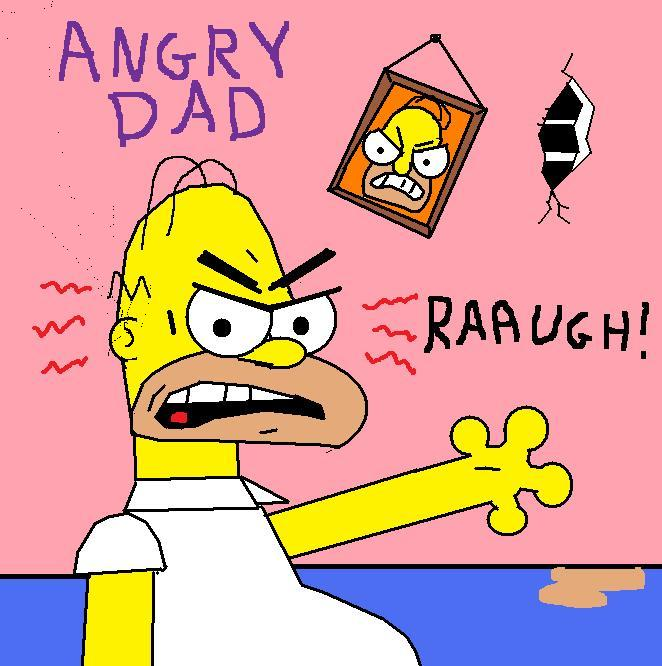 simpsons angry dad by avricci on deviantart