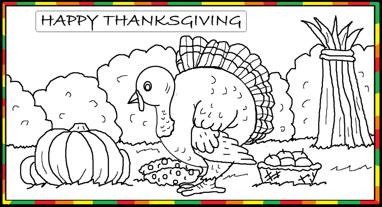 thanksgiving pre k coloring pages - photo#34
