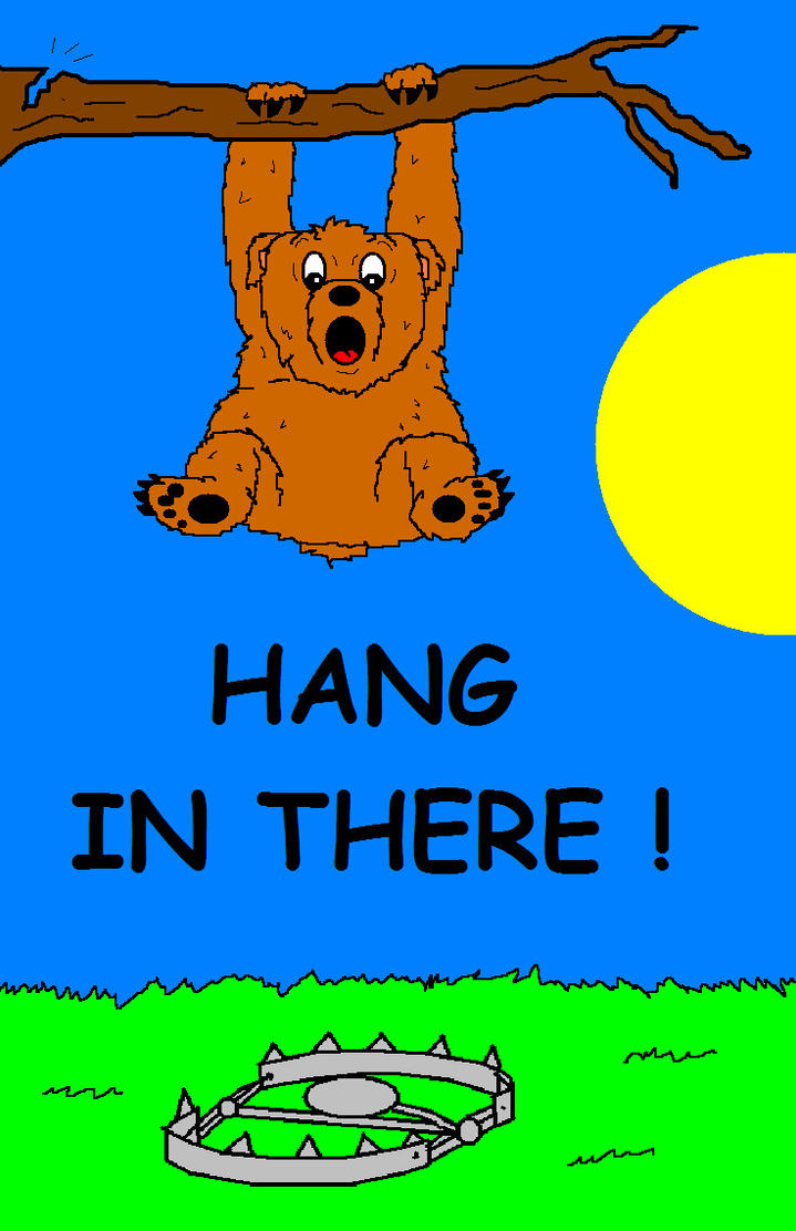 hang in there bear by avricci on deviantart rh avricci deviantart com free clipart hang in there hang in there kitty clipart