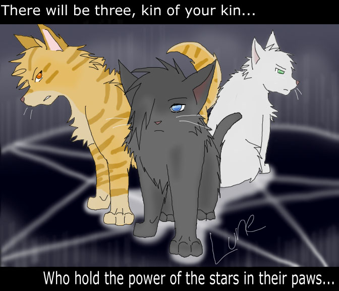 Warrior cats power of three by caesol on deviantart The three cats