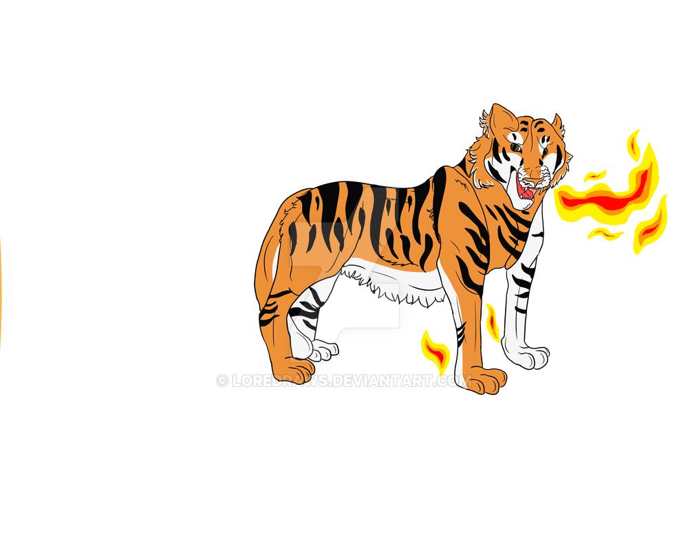 Tiger by loredraws