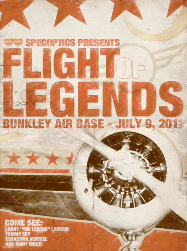 Flight of Legends Event Poster by AiDub