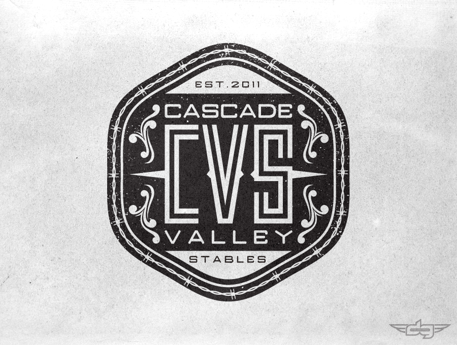 Cascade Valley Stables Logo by AiDub