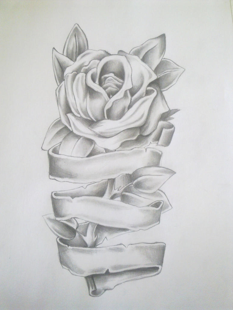 Rose Tattoo Drawing by Anako-Kitsune