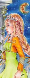 Commission 21 Princess Bookmark by Anako-Kitsune