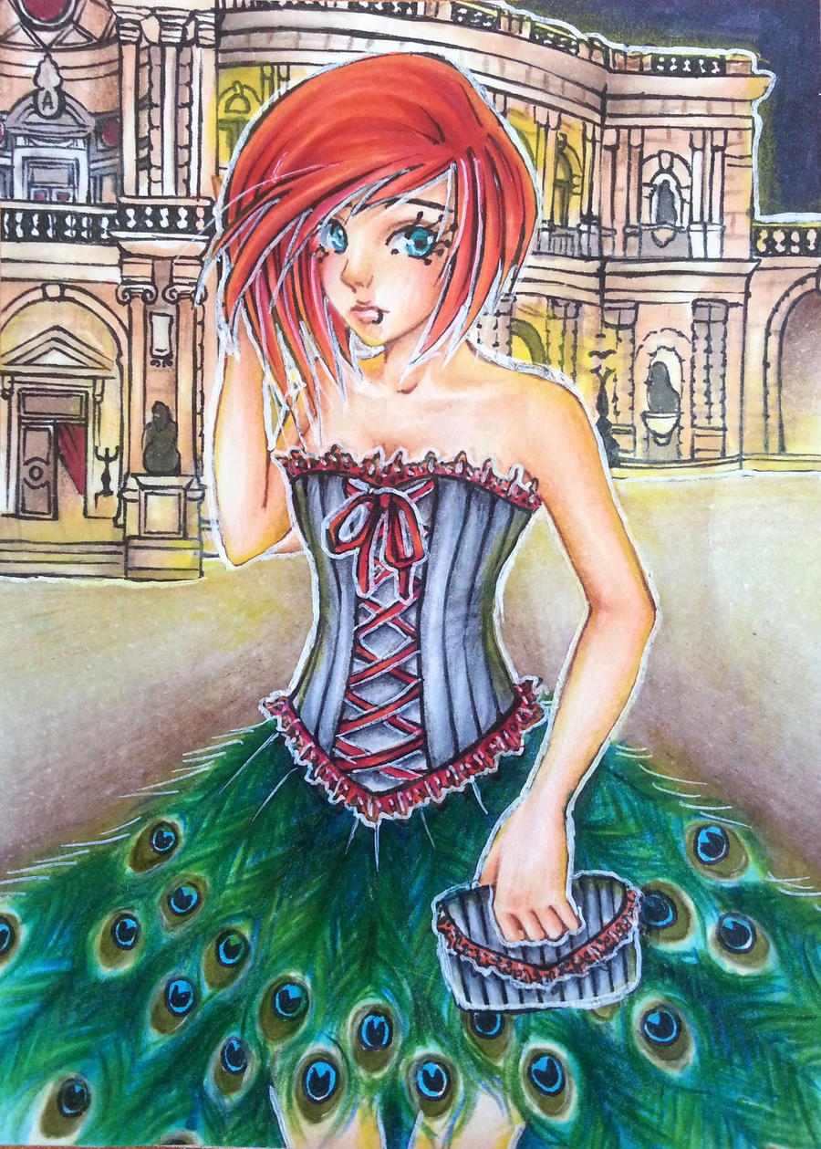 ACEO An evening in the opera (SOLD) by Anako-Kitsune
