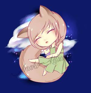 Sleepy fox (Lines free to color - link in descrip)