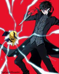 Pichu vs. Joker by SageCamille