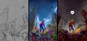 Spiderman steps by abraaolucas