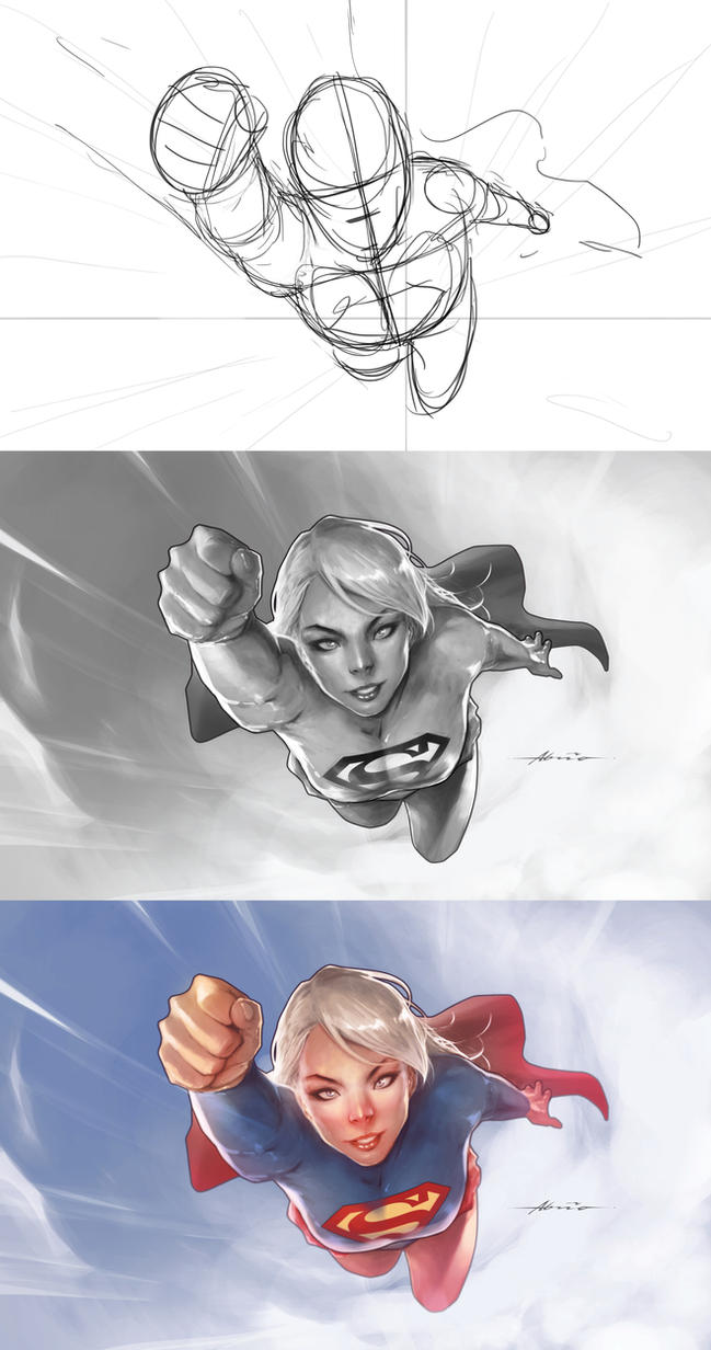 Supergirlsteps by abraaolucas