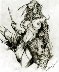 Amazon Woman by abraaolucas
