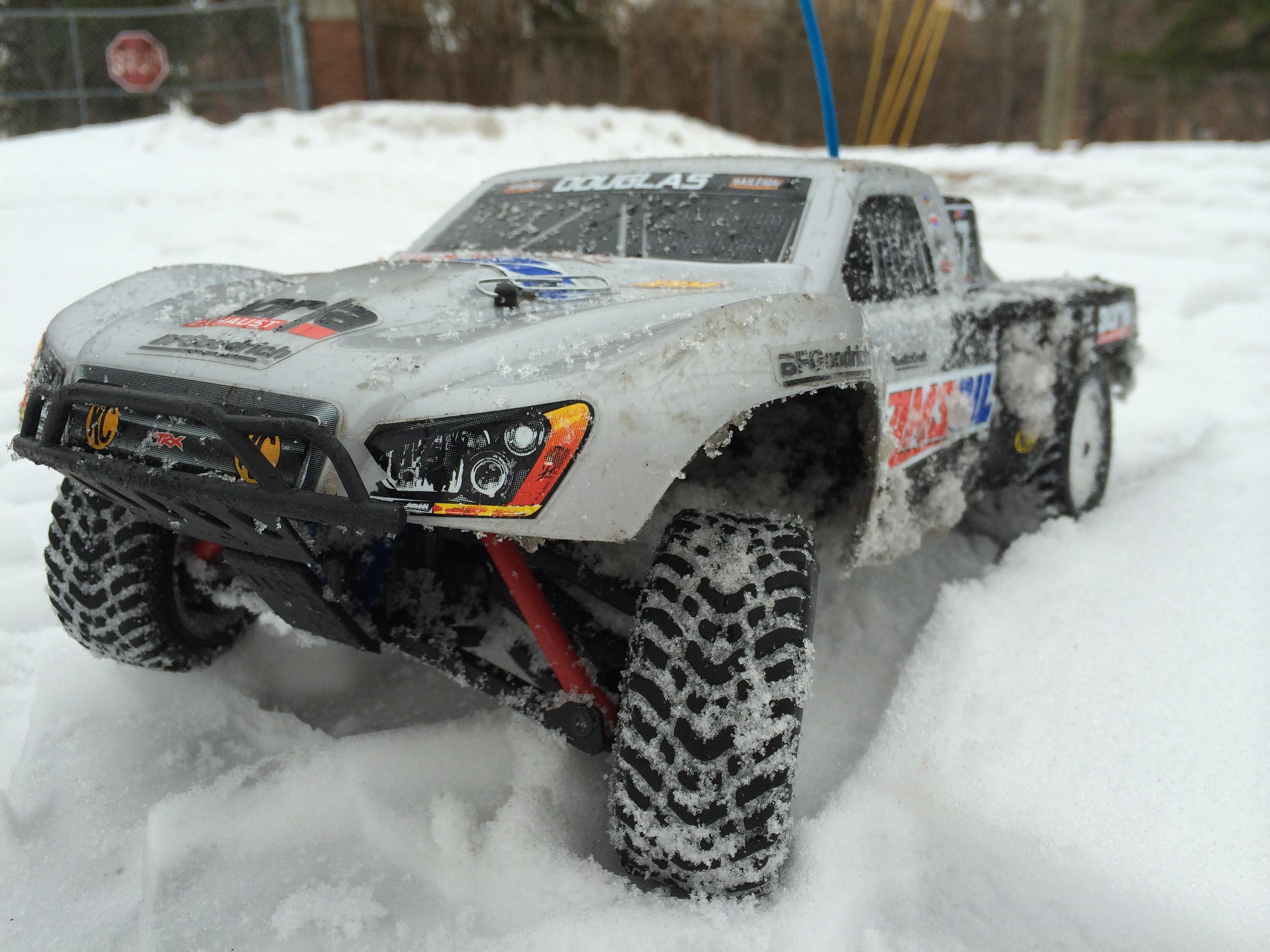 Traxxas Slash R C Car Snow Drifting by AirJordanSwag