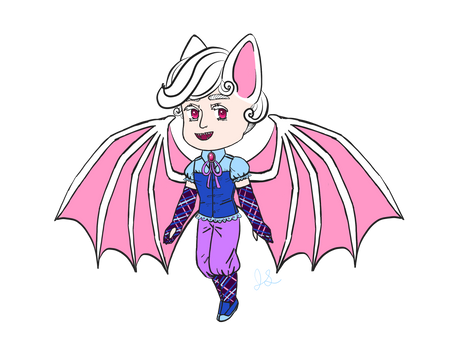 OPEN Halloween-Themed Albino Bat Chara!